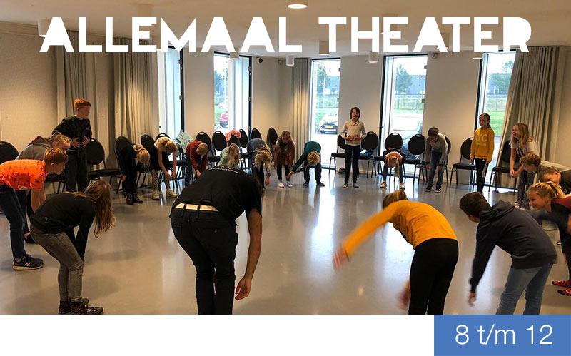 Cursus Allemaal Theater - 8 t/m 12 jaar - Jeugdtheaterschool Zwolle
