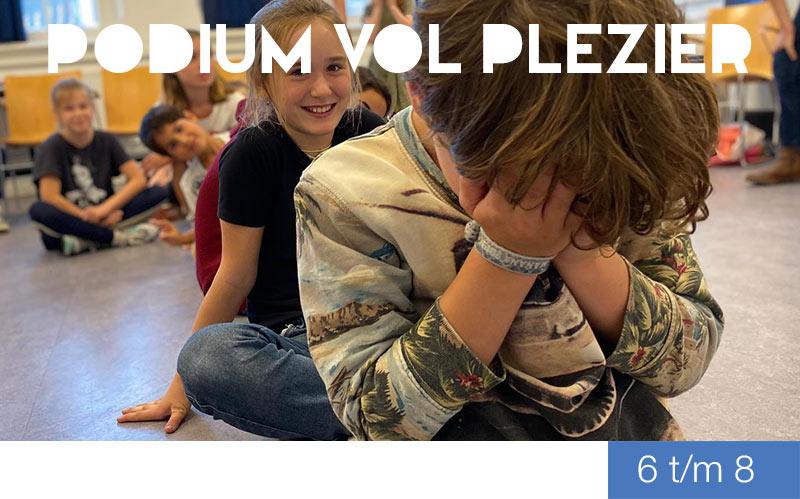 Podium vol Plezier 6 t/m 8 jaar - jeugdtheaterschool Zwolle
