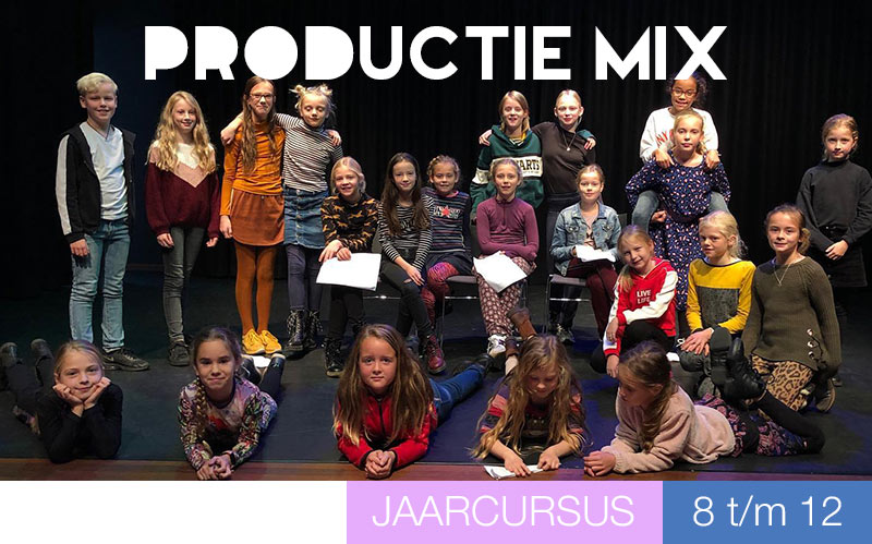 Productie Mix - Theater en Musical - 8 t/m 12 jaar - Jeugdtheaterschool Zwolle