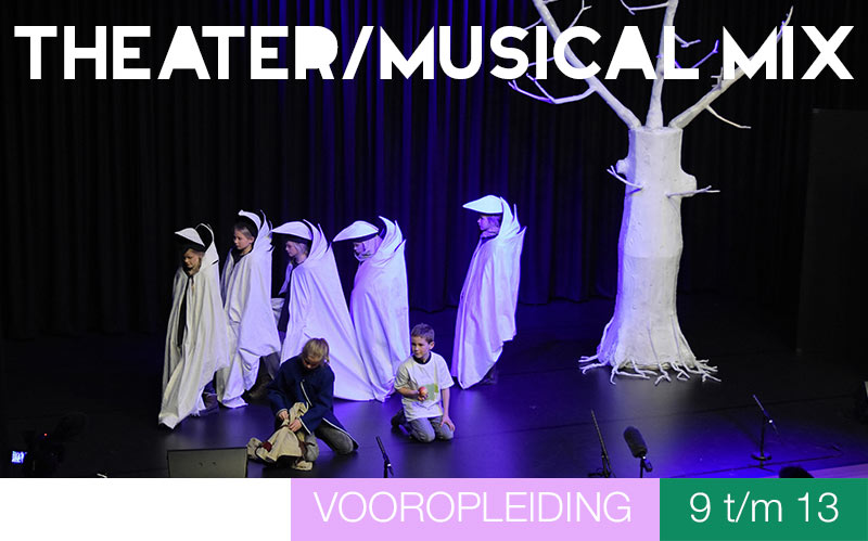 Vooropleiding THEATER/MUSICAL MIX - 9 t/m 1 jaar - Jeugdtheaterschool Zwolle